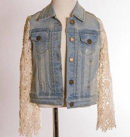 ML Fashions Lace Denim Jacket