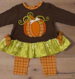 Molly and Millie Tunic 2 pc w/Leggings: Pumpkin Applique