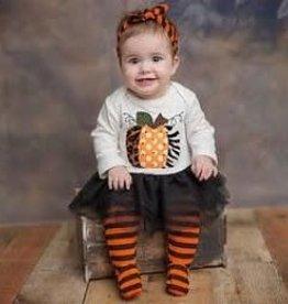 Haute Baby Pumpkin Footie Outfit