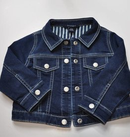 Blue and Blu Knit Denim Jacket