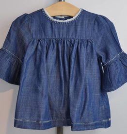 Blue and Blu Alice Dress with Bell Sleeves