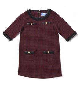 Kapital K Houndstooth Crimson Dress