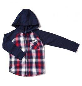 Kapital K Hooded Plaid Flannel Shirt