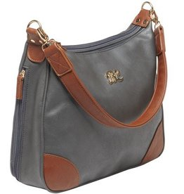 Bulldog BDC Hobo Series Concealed Carry Purse Gray with Tan Trim