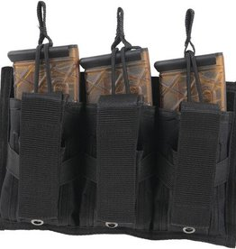 Bulldog BDC Tri-Double MOLLE Mag Pouch Holds Three 30 Round Carbine 5.56/.223 Magazines Black