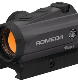 Sig Sauer SIG Romeo 4 Compact Red Dot Sight 1x20mm 2 MOA Reticle Low Profile With Torx Mounts Graphite Finish