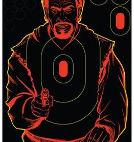 Birchwood Casey BWC Shoot-N-C Bad Guy Silhouette Target 12x18 Inch 5 Per Package