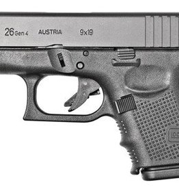 Glock GLK Glock 26 Gen4 9mm 3.47 Inch Barrel Black Finish Fixed Sights 10 Round