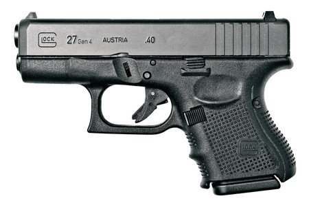 Glock GLK Gen4 Glock 27 .40 Smith & Wesson 3.47 Inch Barrel Black Finish Fixed Sights 9 Round