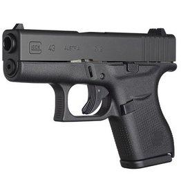 Glock GLK Glock 43 9mm Single Stack 3.39 Inch Barrel Fixed Sights Black 6 Round