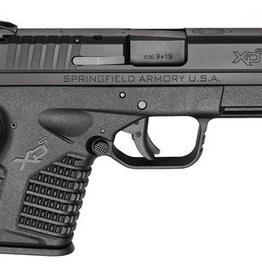 Springfield SAI XDS Essential 9mm 3.3 Inch Barrel Double Action Only USA Trigger System Black Melonite Finish Slide Black Polymer Frame 7 and 8 Round