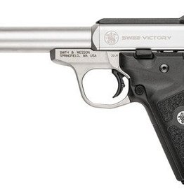 Smith and Wesson S&W Model SW22 Victory 22LR 5.5 Inch Stainless Steel Frame Stainless Steel Finish 10 Round