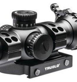 TRUGLO TGI Omnia Riflescope 1-4x24mm Illuminated All-Purpose Tactical Reticle Matte Black Finish Includes Mount 30mm Omnia Riflescope