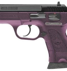 EUROPEAN AMERICAN ARMORY EAA SAR B6PL Compact Lady 9mm 3.8 Inch Barrel Violet Frame Blue Stainless Steel Slide 13 Round