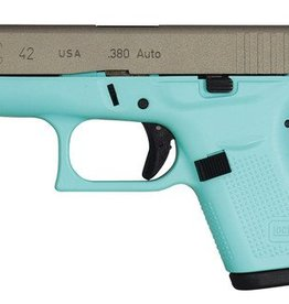 Glock GLK Glock 42 Gen 3 Subcompact .380 ACP 3.25 Inch Barrel Eggshell Blue With Stainless Steel Slide 6 Round - AcuSport