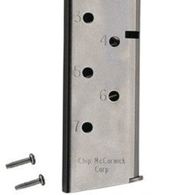 CMC CMC Magazine With Pad For 1911 Officer's Match Grade .45ACP 7 Round Stainless Steel