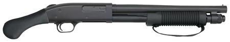 Mossberg MOS Model 590 Shockwave 12 Gauge 3 Inch Chamber 14 Inch Heavy Walled Barrel Shockwave Raptor Pistol Grip Front Bead