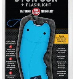 sabre SEC Stun Gun Plus Flashlight With Stop Strap Technology Turquoise