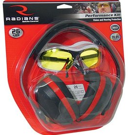RADIANS SPORTING GOODS RAD Performance Kit Silencer Earmuff NRR26db and Revelation Shooting Glasses Smoke Lens Black Frame
