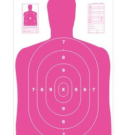 Birchwood Casey BWC BC27 Pink Eze-Scorer Paper Silhouette Target 23x35 Inch Folded 5 Per Package