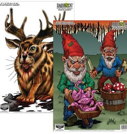 Birchwood Casey BWC Darkotic Combination Pack Snack Rabbit/Grounds Crew 12x18 Inch 8 Targets