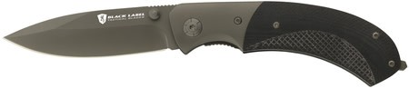 Black Label BRW Black Label Checkmate Folding Knife 3.5 Inch Spear Point Blade Black G-10 Handle Boxed