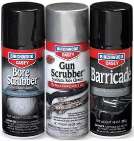 Birchwood Casey Birchwood Casey 1-2-3 Aerosol Value Pak with Bore Scrubber, Gun Scrubber and Barricade 10 oz Cans 3 Pack
