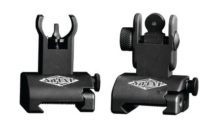 YHM YANKEE HILL MACHINE	 YHM Quick Deploy Same Plane Sight System Front And Rear Set Hooded