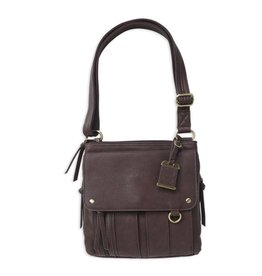 Bulldog BDC Cross Body Series Concealed Carry Purse Medium Chocolate Brown Cross Body Series Concealed Carry Purse