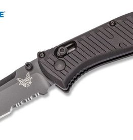 "Benchmade Benchmade 575SBK Mini Presidio II - 3.2"" Combo Edge Black Finish CPM-S30V Blade - Black Anodized 6061-T6 Aluminum Handle"