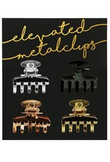 Kitsch     812696024754 4 Set Metallic Claw Clip Multi os
