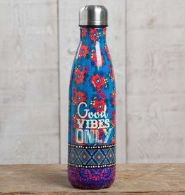 "Natural Life ""Good Vibes Only"" Double Wall Water Bottle"