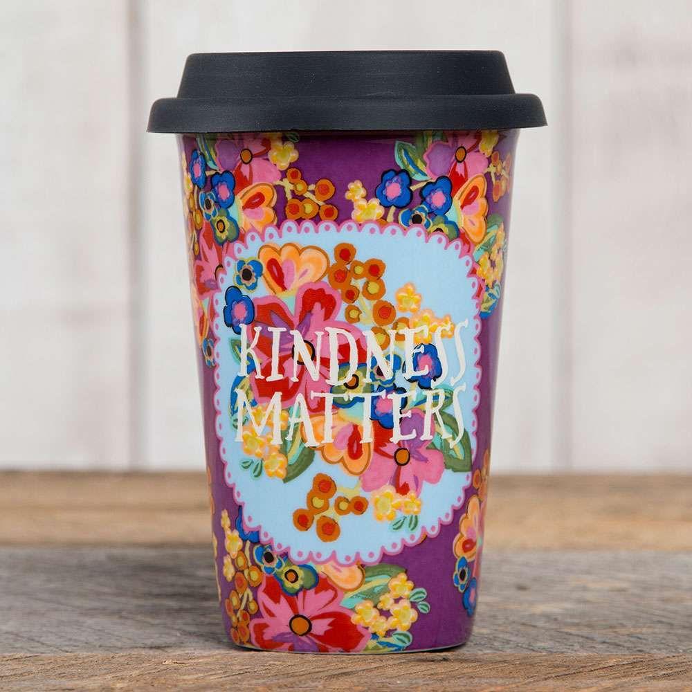 "Natural Life Thermal Mug with ""Kindness Matters"""
