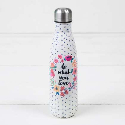 """Natural Life """"Do What You Love"""" Double Wall Water Bottle"""