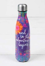 "Natural Life ""Adventure Begins"" Double Wall Water Bottle"
