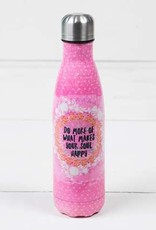 "Natural Life ""More Soul Happy"" Double Wall Water Bottle"