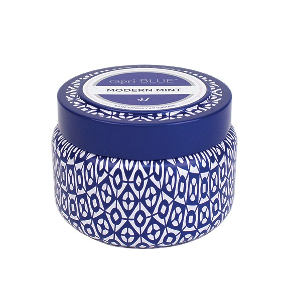 Capri Blue Printed Travel Tin Modern Mint