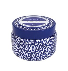 Capri Blue Printed Travel Tin Blue Jean