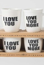 Natural Life Love You More Ceramic Mug Set
