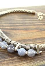 Phoebe Grey Beaded Necklace