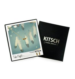 Kitsch Take Flight Necklace/Earring Gold