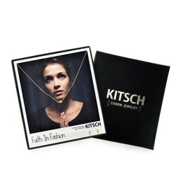 Kitsch Faith in Fashion Cross Charm Necklace/Earring Gold