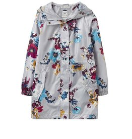Joules Golightly Silver Posy Rain Jacket