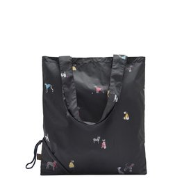 Joules Black Chic Dog Shopper Bag