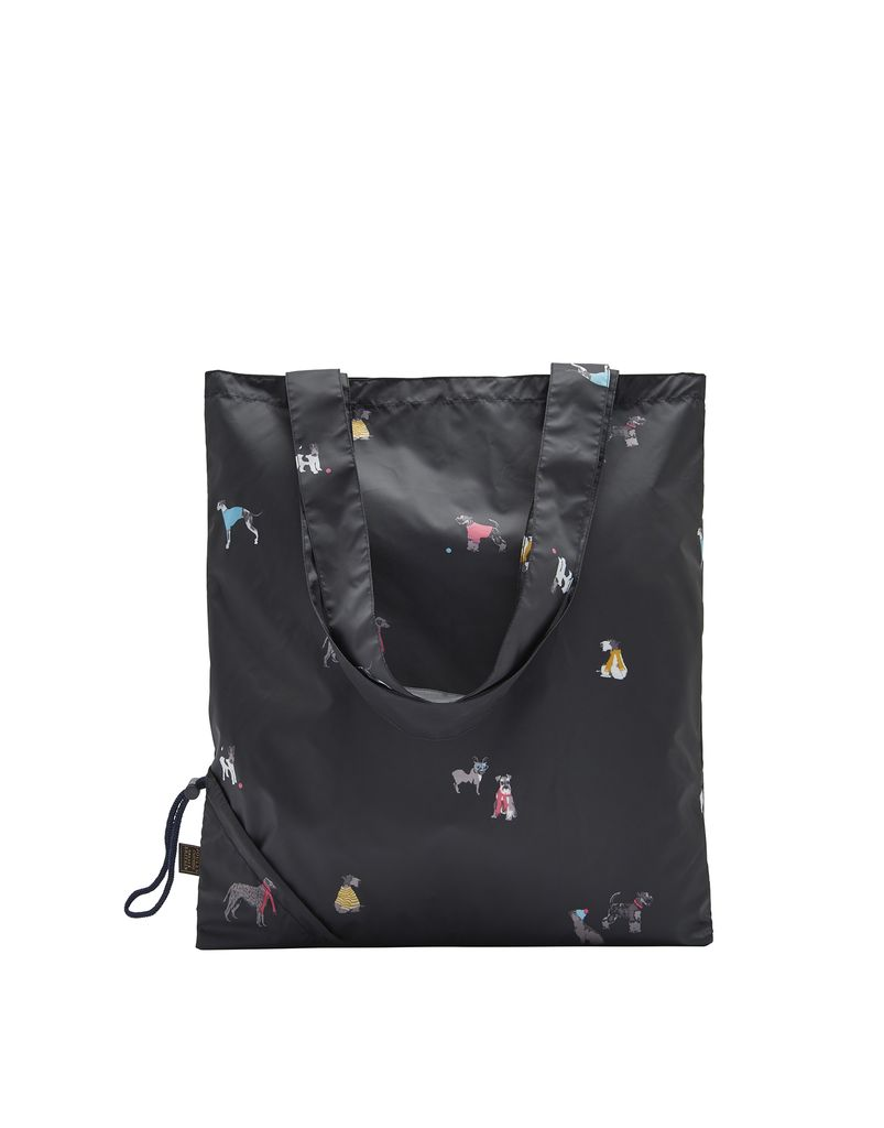 Joules Black Chic Dog Shopper Bag