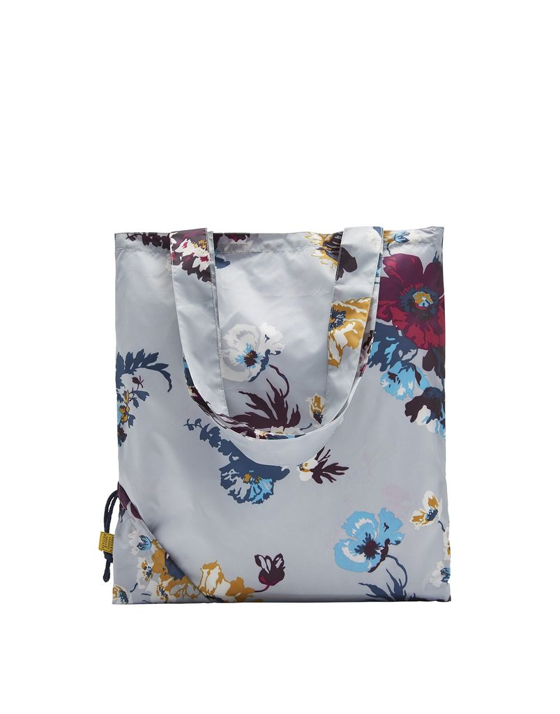Joules Silver Posy Shopper Bag