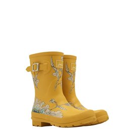 Joules Short Yellow Ditsy Welly Boots