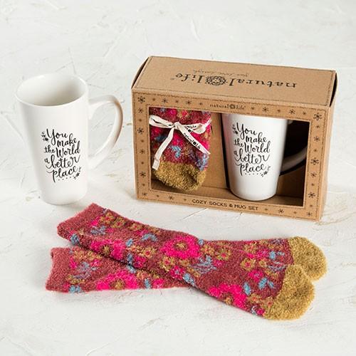 natural life mug cozy socks world gift set 16 suitcases