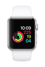 Apple Apple Watch Series 1 - 38mm - Silver Aluminum Case with White Sport Band