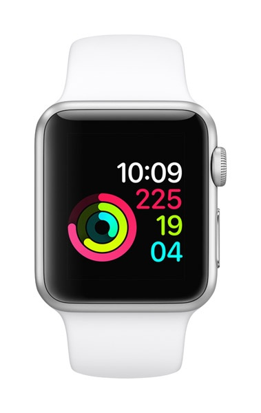 Apple AppleWatch Series 1 38mm Silver Aluminum w/ White Sports band